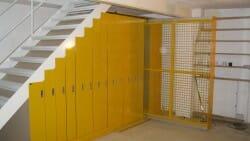 under-stair artwork storage