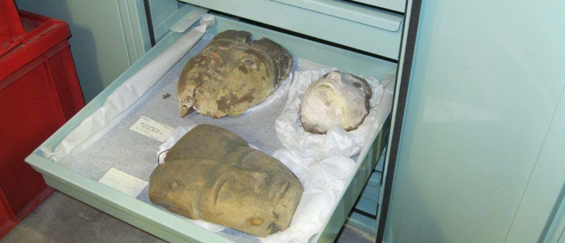 Bolton Museum Egyptology Drawers