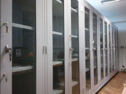 storage cabinets with glass front