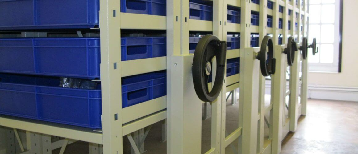 Whitby Art Gallery Storage designed for geology collection.