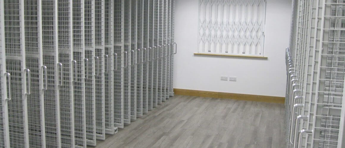 private pull out racking system