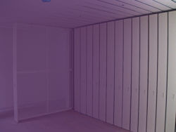 Private Collection storage with purple overlay